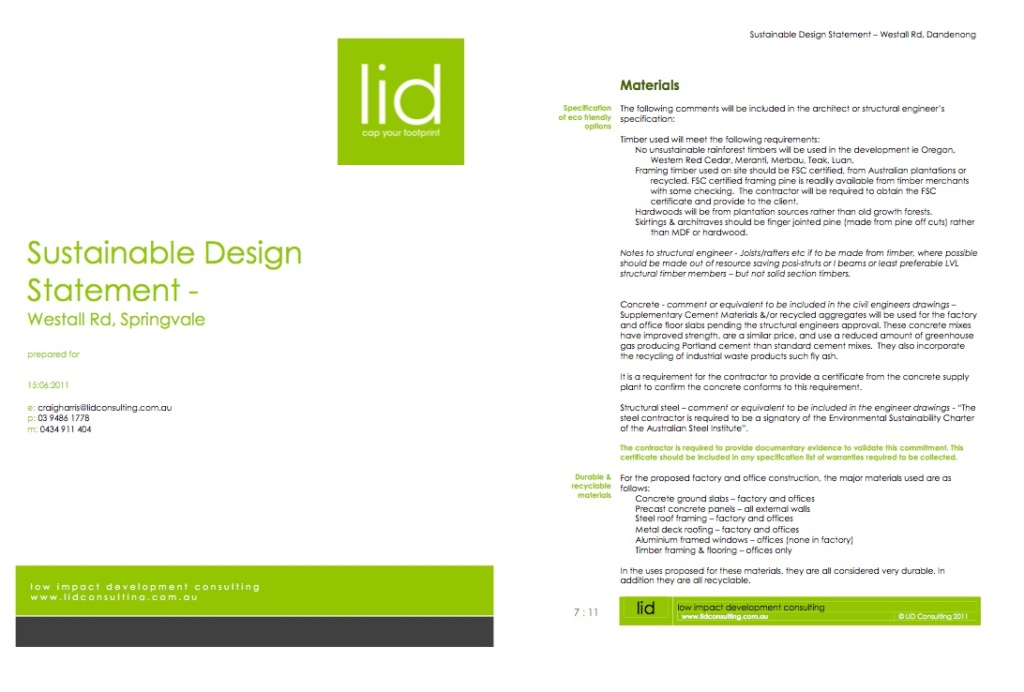 Sustainable Design Assessments