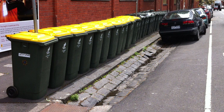 kerbside recycling bins waste management plan