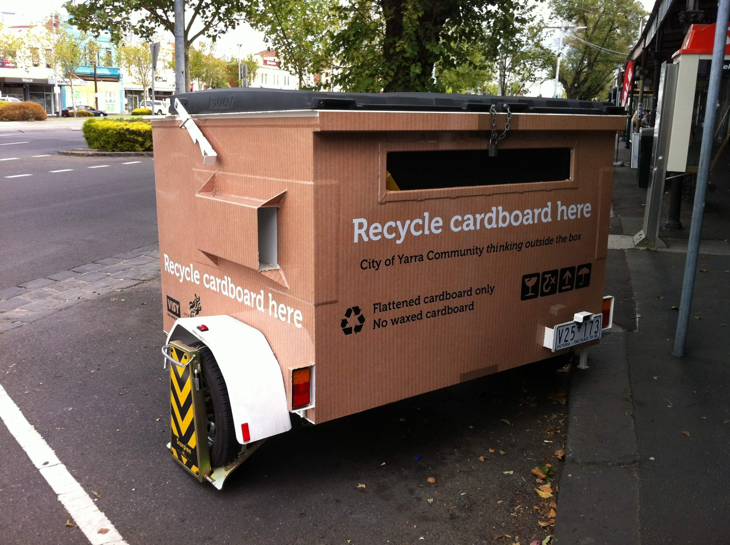 cardboard recycling for waste management plans