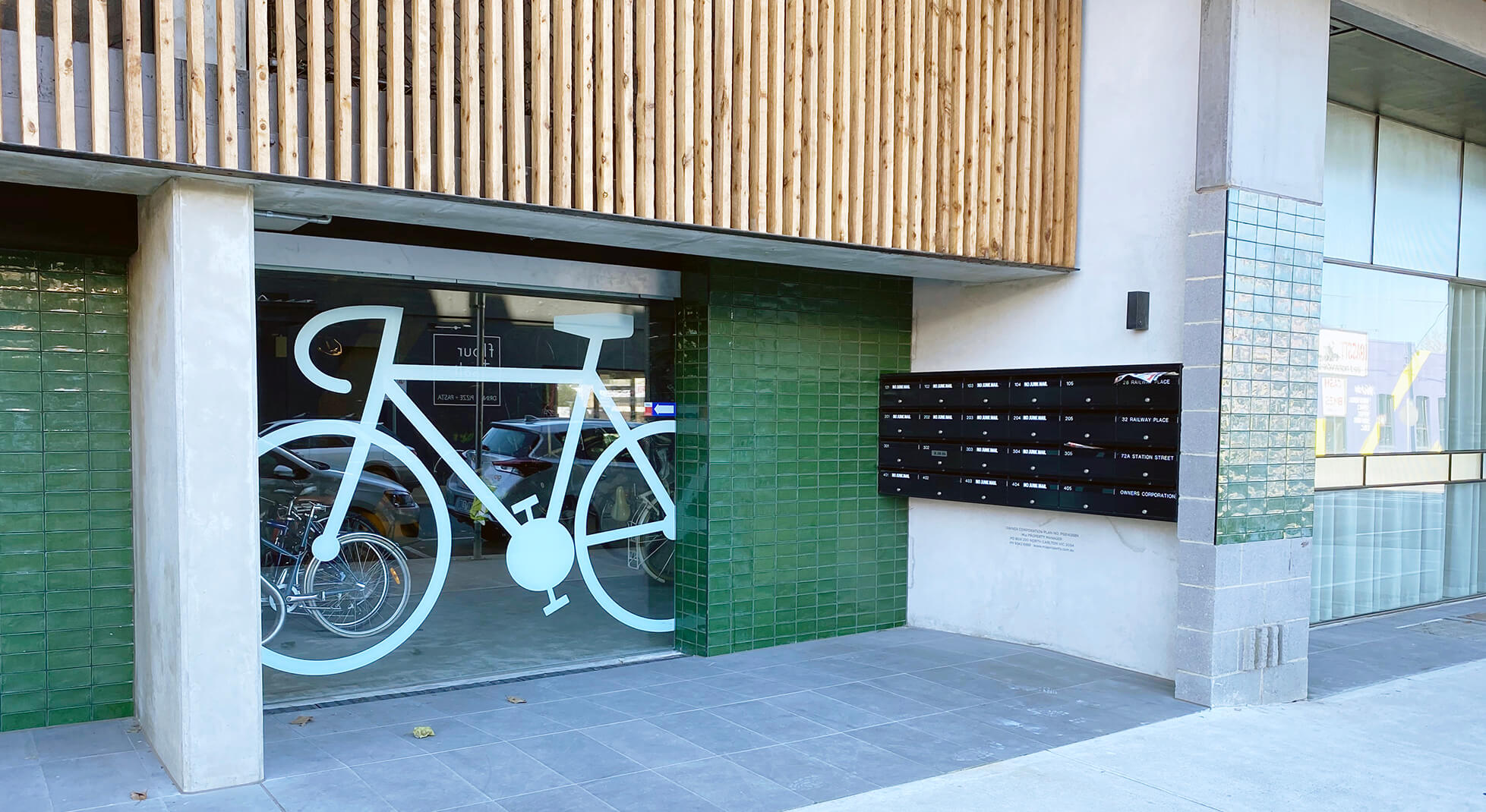 ground floor bike storage