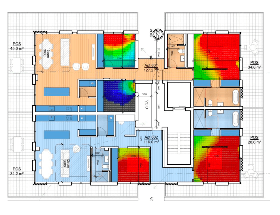 daylight modelling in an Environmentally Sustainable Development (ESD) report