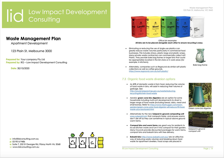 waste management plan sample