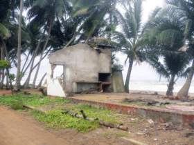 1. Example of the damage caused by the tsunami in this district