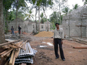 13. The progression of individual dwellings being built