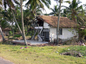 2. Example of the damage caused by the tsunami in this district