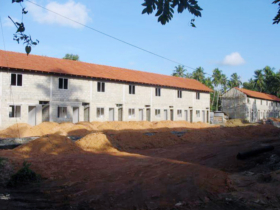22. 50 dwelling row house near completion
