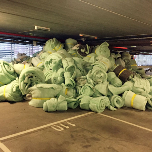 Recycled clean polyester insulation was given away on Gumtree