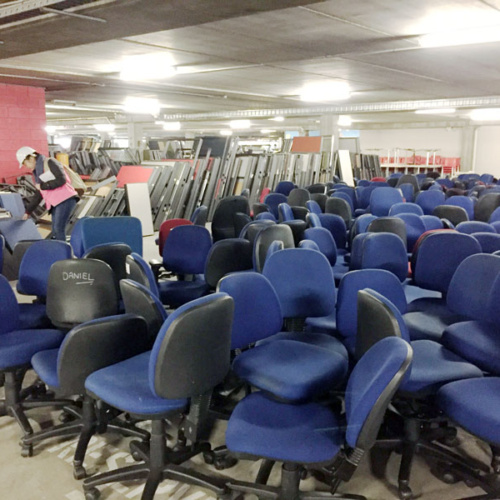 Recycled office chairs for a circular economy