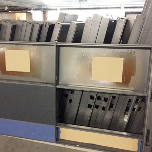 Recycled office partitions for a circular economy